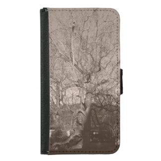 Tree in Sepia Samsung Galaxy S5 Wallet Case
