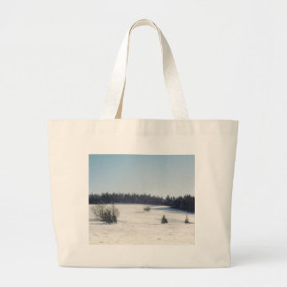 tree in snow1 canvas bag