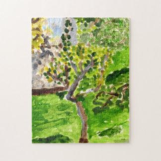 Tree in springtime jigsaw puzzle