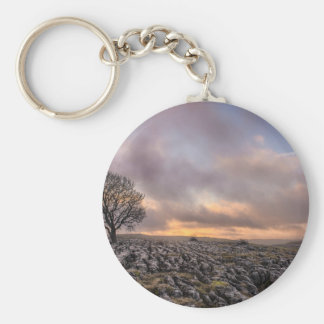 tree in the sky basic round button keychain