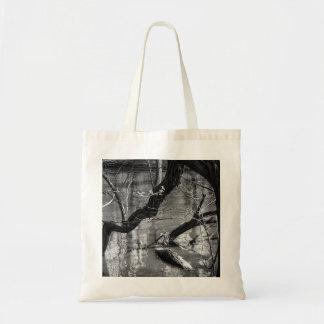 Tree In Water, Dark Horror Photograph, Woods Budget Tote Bag