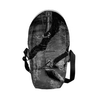 Tree In Water, Dark Horror Photograph, Woods Courier Bag