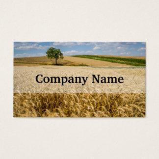 Tree In Wheat Field Landscape Business Card