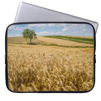 Tree In Wheat Field Landscape Laptop Sleeve