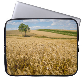 Tree In Wheat Field Landscape Laptop Sleeves