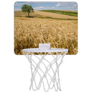 Tree In Wheat Field Landscape Mini Basketball Hoop