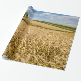 Tree In Wheat Field Landscape Wrapping Paper
