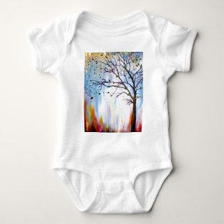 Tree in Wind Baby Bodysuit