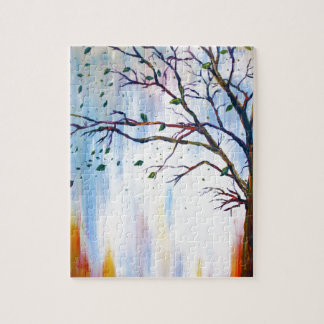 Tree in Wind Jigsaw Puzzle
