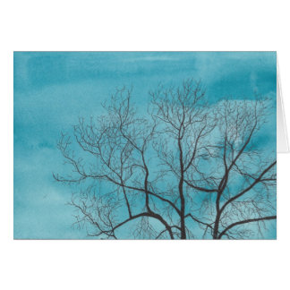 Tree in winter card