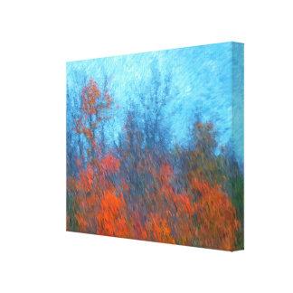 Tree Landscape A Painted Scene Canvas Print