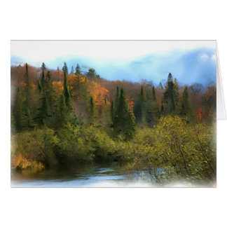 Tree Landscape Autumn Glow Card