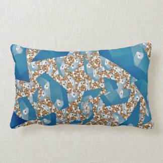 TREE LEAVES AND SKY LUMBAR PILLOW