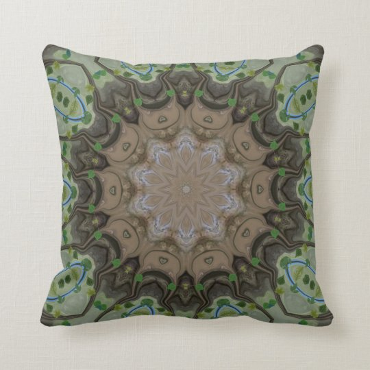 Tree Leaves Throw Pillow. Throw Pillow