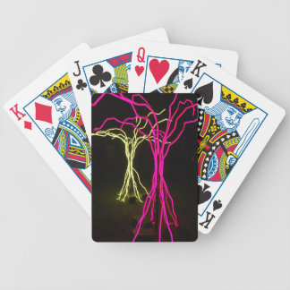Tree Lights Bicycle Playing Cards