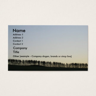 Tree Line Business Card