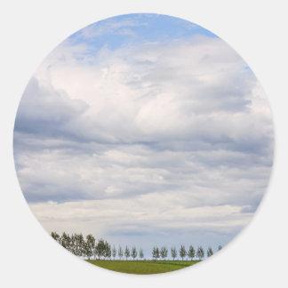 Tree Line Classic Round Sticker