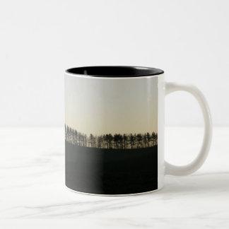 Tree Line (Dark) Two-Tone Mug