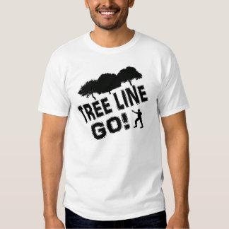 Tree Line Go! T Shirts