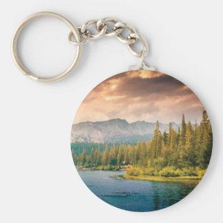 tree line in the wilderness keychain