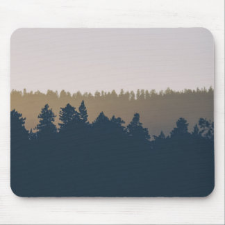 Tree line silhouette mouse pad