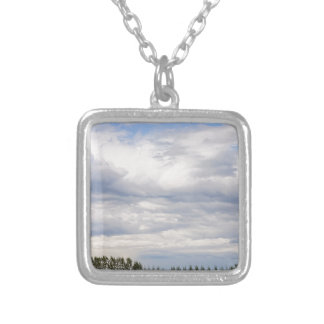 Tree Line Silver Plated Necklace