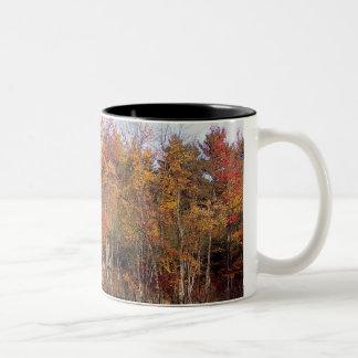 tree line Two-Tone coffee mug