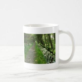 tree lined basic white mug