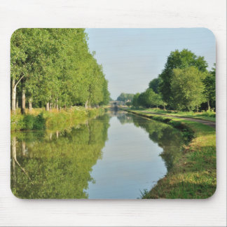 Tree lined canal scene mouse pad