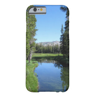 Tree-Lined River Meadow with Mountain Vista Photo Barely There iPhone 6 Case