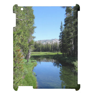 Tree-Lined River Meadow with Mountain Vista Photo Case For The iPad 2 3 4