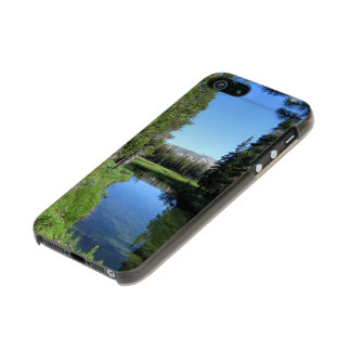 Tree-Lined River Meadow with Mountain Vista Photo Incipio Feather® Shine iPhone 5 Case