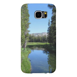 Tree-Lined River Meadow with Mountain Vista Photo Samsung Galaxy S6 Cases