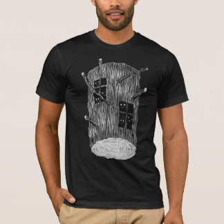 Tree Log With Mysterious Forest Creatures T-Shirt