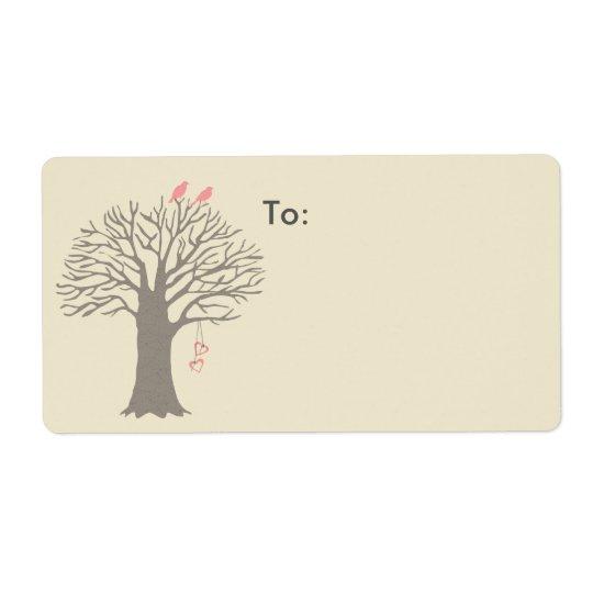 Tree Love Birds Custom Shipping Label