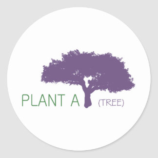 Tree Lover products! Round Sticker