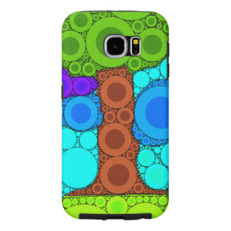 Tree Mosaic Concentric Circles Galaxy S6 Case