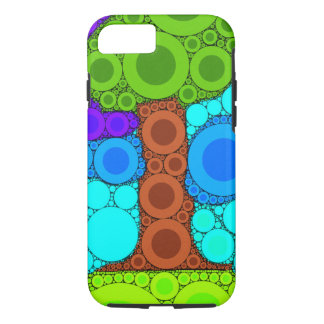 Tree Mosaic Concentric Circles iPhone 7 Case