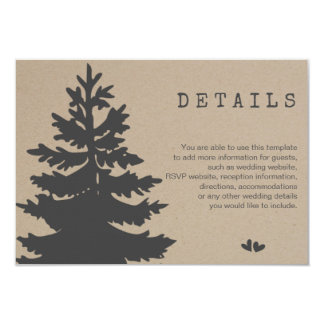 Tree | Mountain Woodland Forest Wedding Details Card