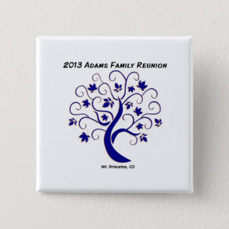 Tree name tag 2 inch square button