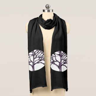 Tree Nature Gothic Goth Spooky Nature Witch Moon Scarf