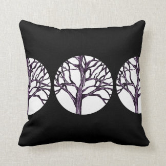 Tree Nature Gothic Goth Spooky Nature Witch Moon Throw Pillow
