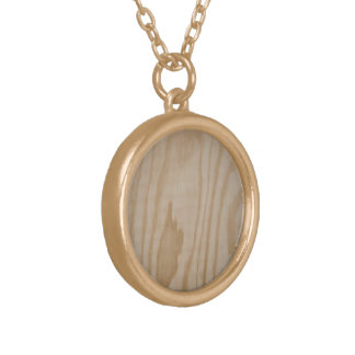 Tree necklace, bare wood gold plated necklace
