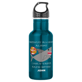Tree Nut Allergy Alert Shark Personalized Boys 532 Ml Water Bottle