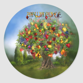 Tree Of Abundance Art Sticker