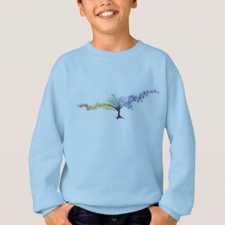 Tree of colorful butterflies sweatshirt