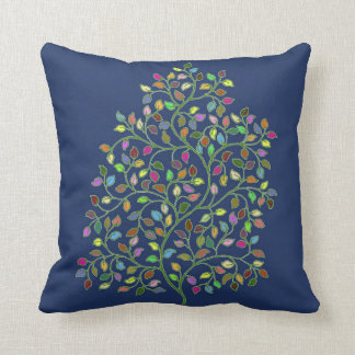 Tree of Fortune Reversible Throw Pillow