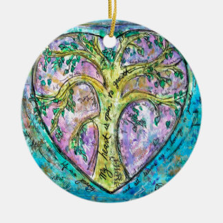 Tree of growth ceramic ornament