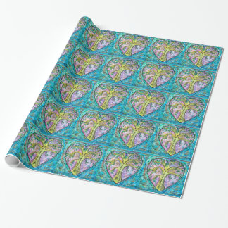 Tree of growth wrapping paper