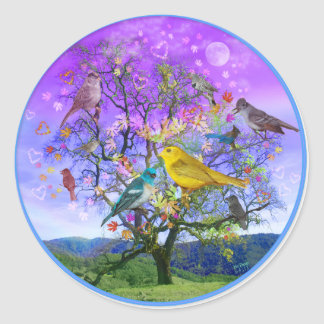 Tree of Happiness Classic Round Sticker